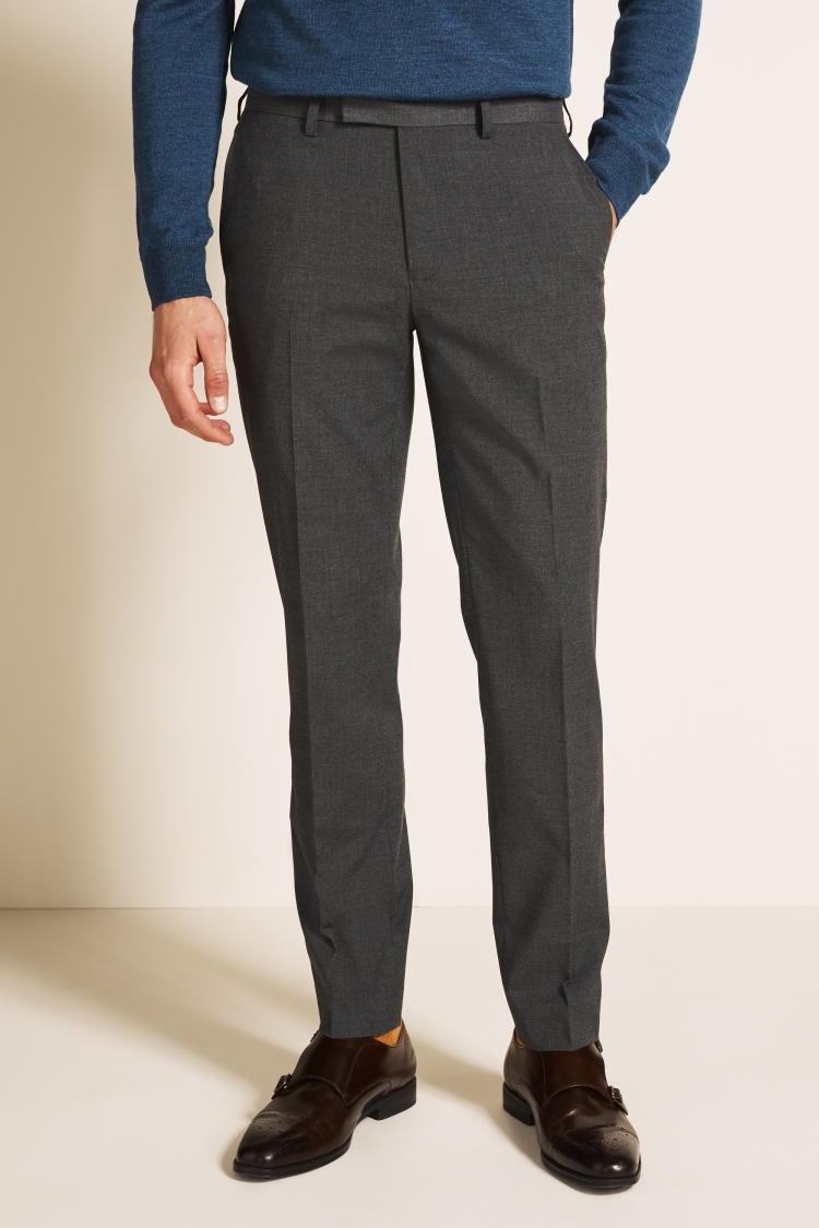 Moss 1851 Tailored Fit Mid Grey Trousers by Moss Bros