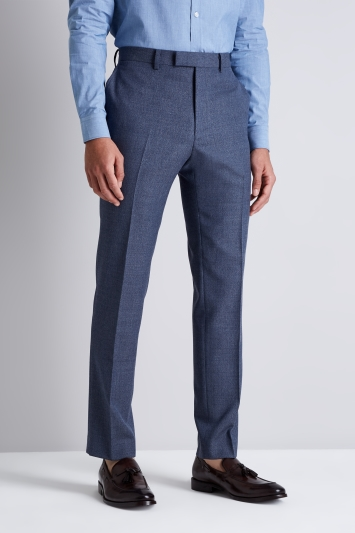 French Connection Slim Fit Blue Mist Trousers