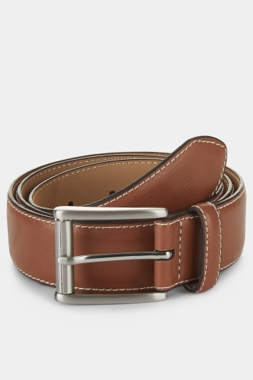 Moss 1851 Tan Tonal Stitch Belt