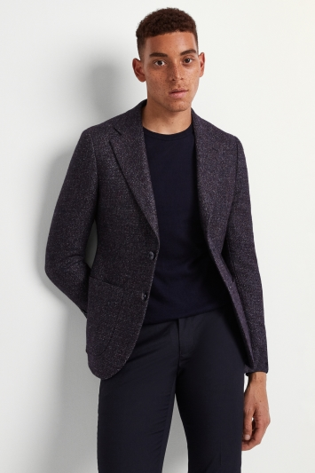 Moss London Skinny Fit Berry Texture Jacket