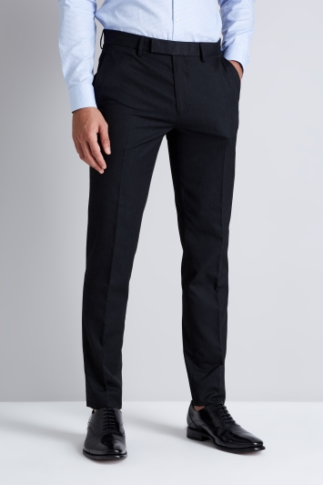 Moss London Skinny Fit Machine Washable Charcoal Trousers