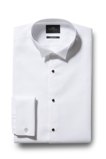 Moss London Premium Extra Slim Fit Marcella Wing Collar Dress Shirt