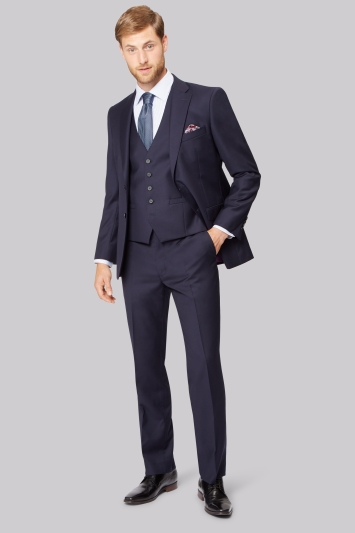 Savoy Taylors Guild Regular Fit Navy Jacket