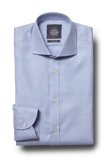 Savoy Taylors Guild Tailored Fit Sky Single Cuff Dobby Shirt