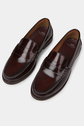 8e74c904f0fb3 Moss London Ryder Burgundy Patent Loafer