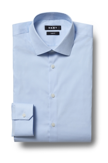 DKNY Slim Fit Sky Single Cuff Stretch Shirt