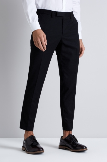 Moss London Skinny Fit Black Cropped Trousers