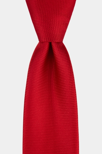Moss Esq. Red Textured Natte Tie