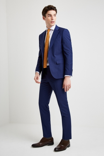 Moss 1851 Performance Slim Fit Royal Blue Jacket