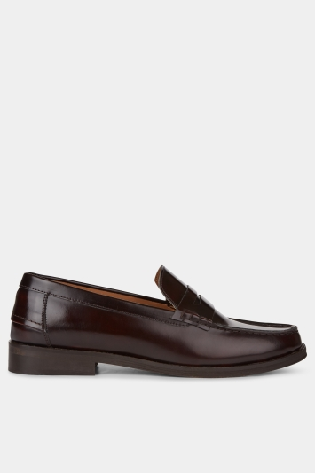 Moss London Ryder Burgundy Patent Loafer