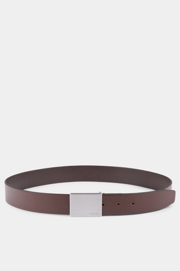 Calvin Klein Dark Coffee 3.5cm Formal Belt