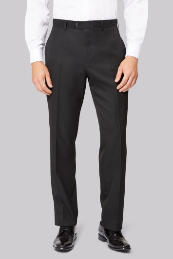 Moss Esq. Regular Fit Black Trousers