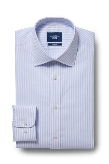 Moss 1851 Tailored Fit Sky Single Cuff Bengal Shirt