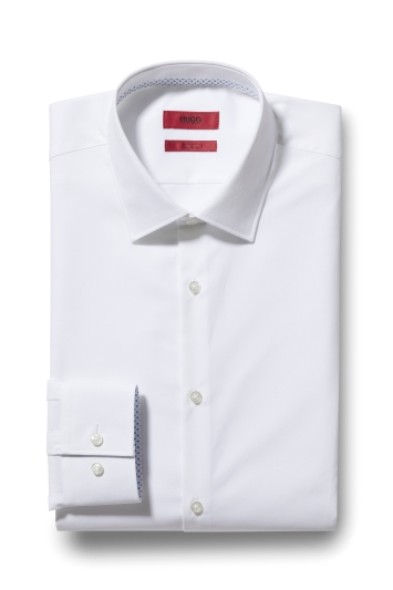 HUGO by Hugo Boss Tailored Fit White Koey Shirt