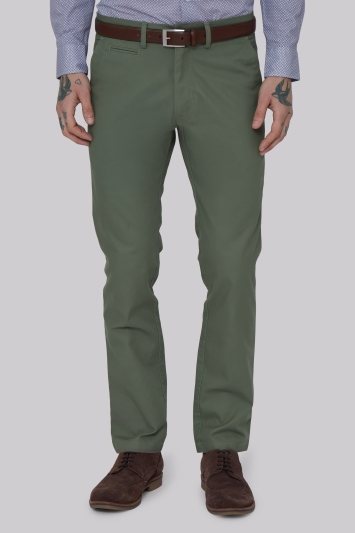 Moss 1851 Tailored Fit Sage Green Chino