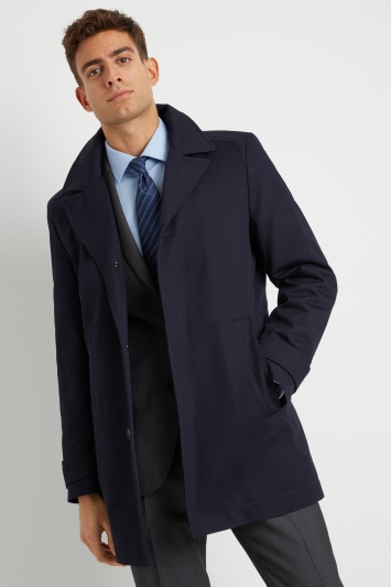 e3d7d348 HUGO by Hugo Boss Tailored Fit Navy Twill Casual Jacket