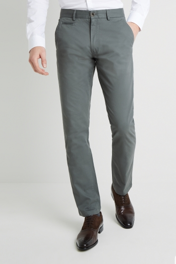 Moss 1851 Tailored Fit Green Stretch Chino