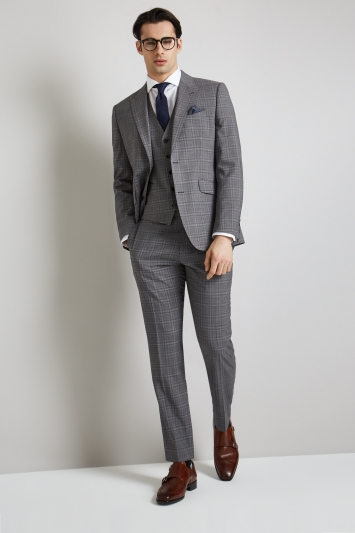 Lanificio F.lli Cerruti Dal 1881 Cloth Tailored Fit Grey Check iTravel Jacket