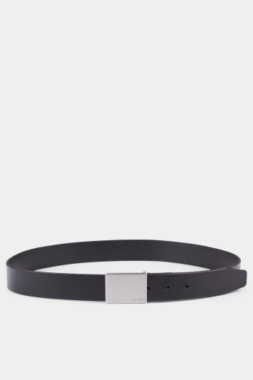 Calvin Klein Black with CK Branded Keeper Formal Belt