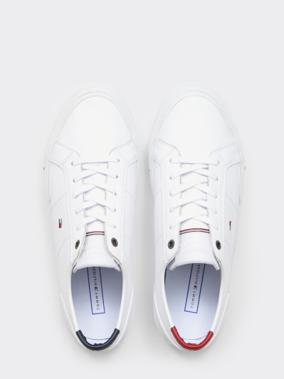 Tommy Hilfiger White TH Flag Sneaker
