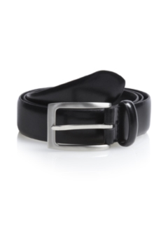 Moss 1851 Black Bonded Leather Belt
