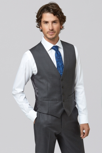 Lanificio F.lli Cerruti Dal 1881 Tailored Fit Charcoal Waistcoat