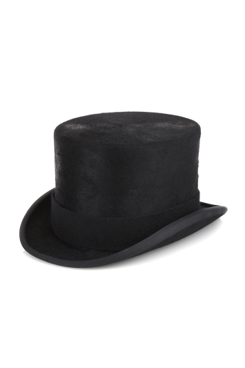 Moss Bros Black Melusine Fur Top Hat
