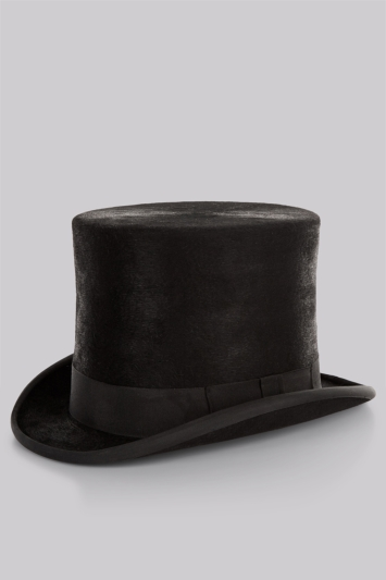 Moss Bros Tall Top Hat & Box