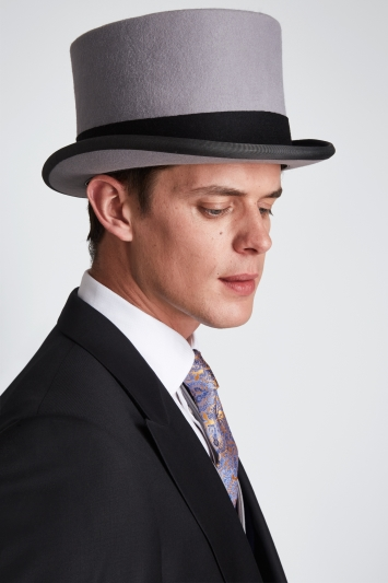 Moss Bros. Grey Ascot Top Hat