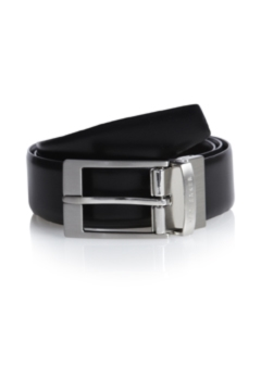 Ted Baker Black Connary Reversible Prong Buckle Belt
