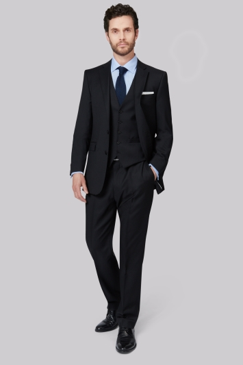 Lanificio F.lli Cerruti Dal 1881 Cloth Tailored Fit Black Jacket
