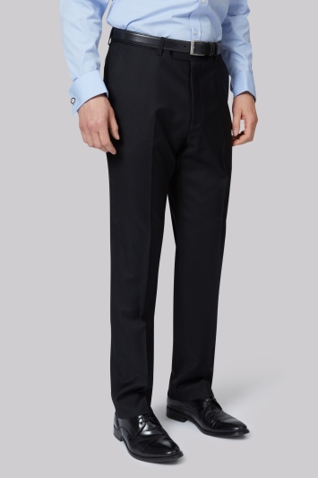 Lanificio F.lli Cerruti Dal 1881 Cloth Tailored Fit Black Trouser