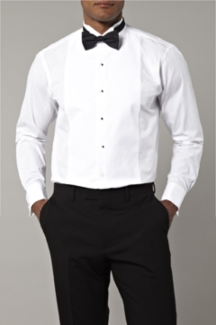 Moss Bros Covent Garden Tailored Fit Marcella Wing Collar Dress Shirt