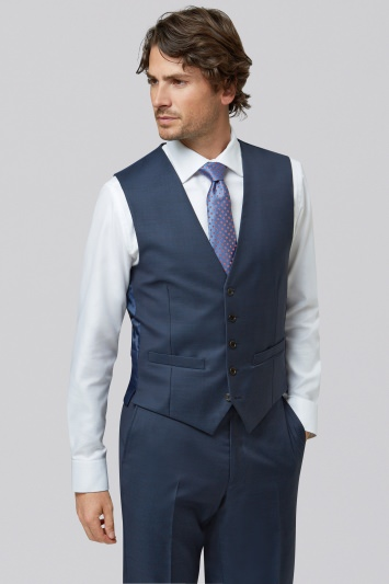 Lanificio F.lli Cerruti Dal 1881 Cloth Tailored Fit Indigo Waistcoat