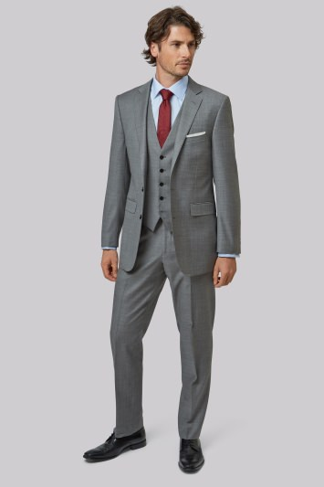 Lanificio F.lli Cerruti Dal 1881 Cloth Tailored Fit Silver Sharkskin Jacket
