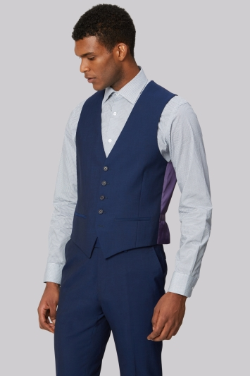 1b688a089 Ted Baker Tailored Fit Blue Waistcoat