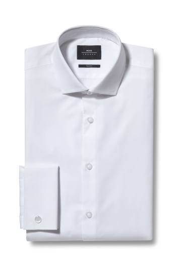Moss London Extra Slim Fit White Double Cuff Shirt