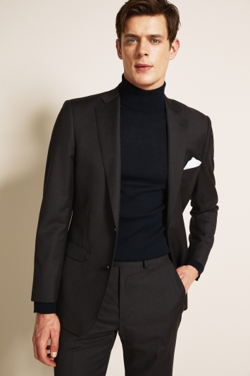 Savoy Taylors Guild Regular Fit Charcoal Jacket