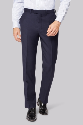 Savoy Taylors Guild Regular Fit Navy Trousers