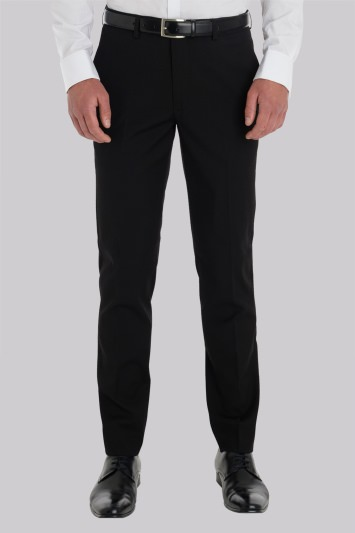 Moss London Slim Fit Black Trouser
