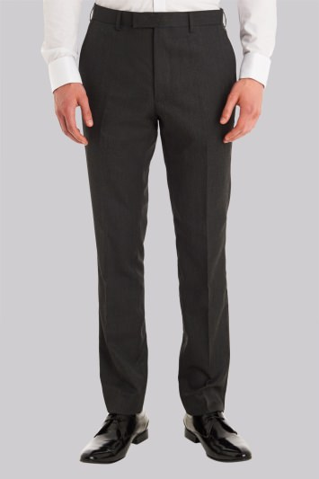 Moss London Slim Fit Charcoal Trousers