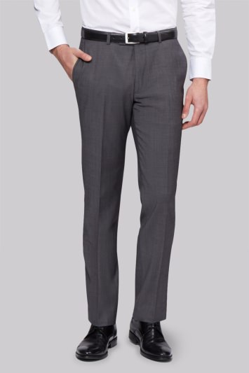 Moss 1851 Tailored Fit Grey Tonic Trousers