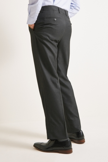 Moss Esq. Regular Fit Charcoal Trousers