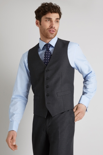Moss Esq. Regular Fit Charcoal Waistcoat