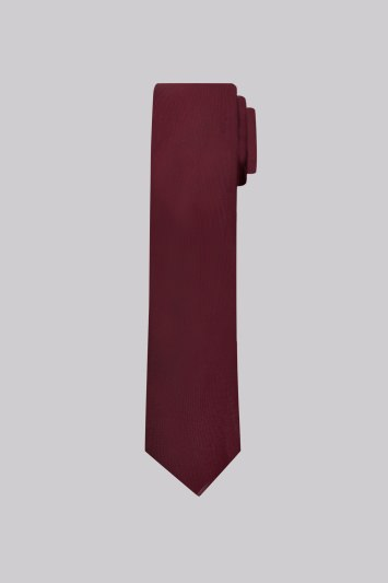 Moss London Wine Plain Skinny Tie