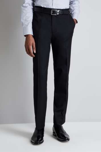 Moss Esq. Regular Fit Machine Washable Black Trousers