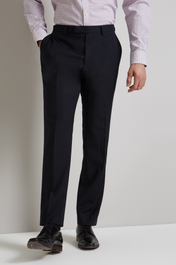 Moss 1851 Tailored Fit Navy Performance Trousers