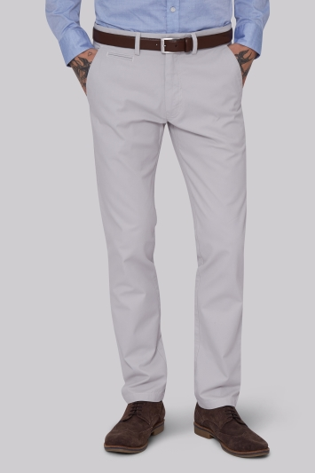 Moss 1851 Tailored Fit Chalk Chino