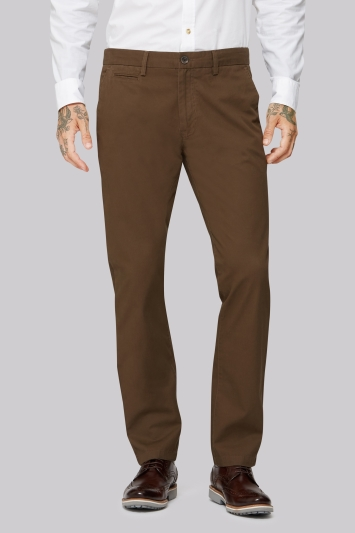 Moss 1851 Tailored Fit Mocha Brown Chino