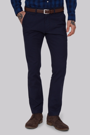 Moss 1851 Tailored Fit Navy Chino